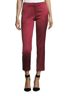 Escada Talas Satin Stretch Ankle Pants