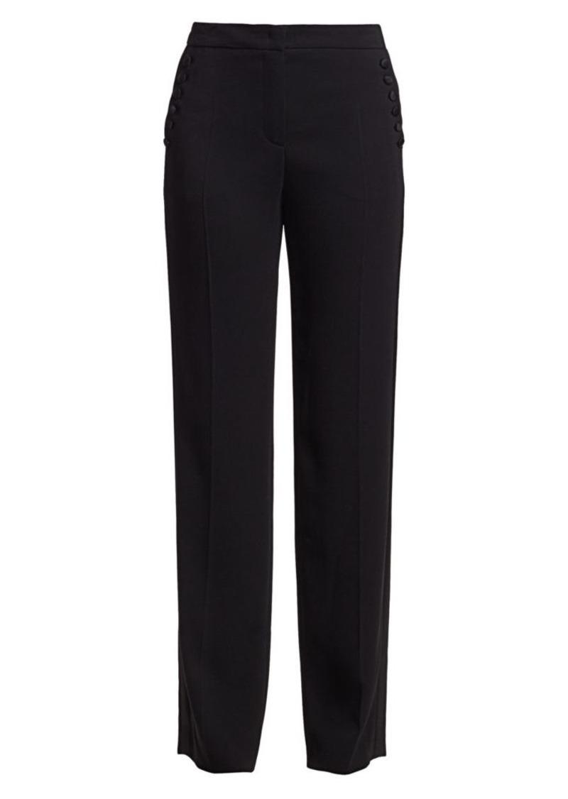 Escada Tassu Button-Trimmed Tuxedo Trousers