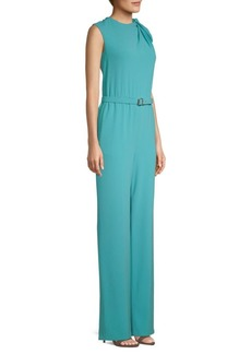 Escada Temino Sleeveless Belted Jumpsuit