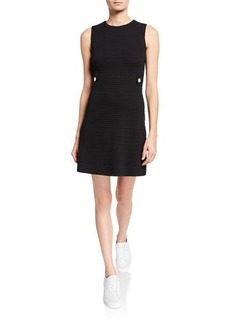 Escada Textured Heart Sleeveless Dress