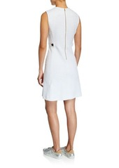Escada Textured Heart Sleeveless Dress