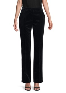 Escada Turanula Velvet Boot Cut Pants