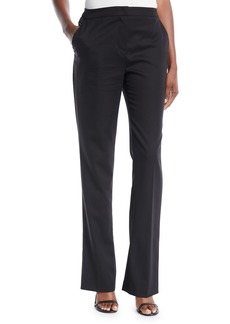 Escada Twien Mid-Rise Slight Flare-Leg Crepe Pants