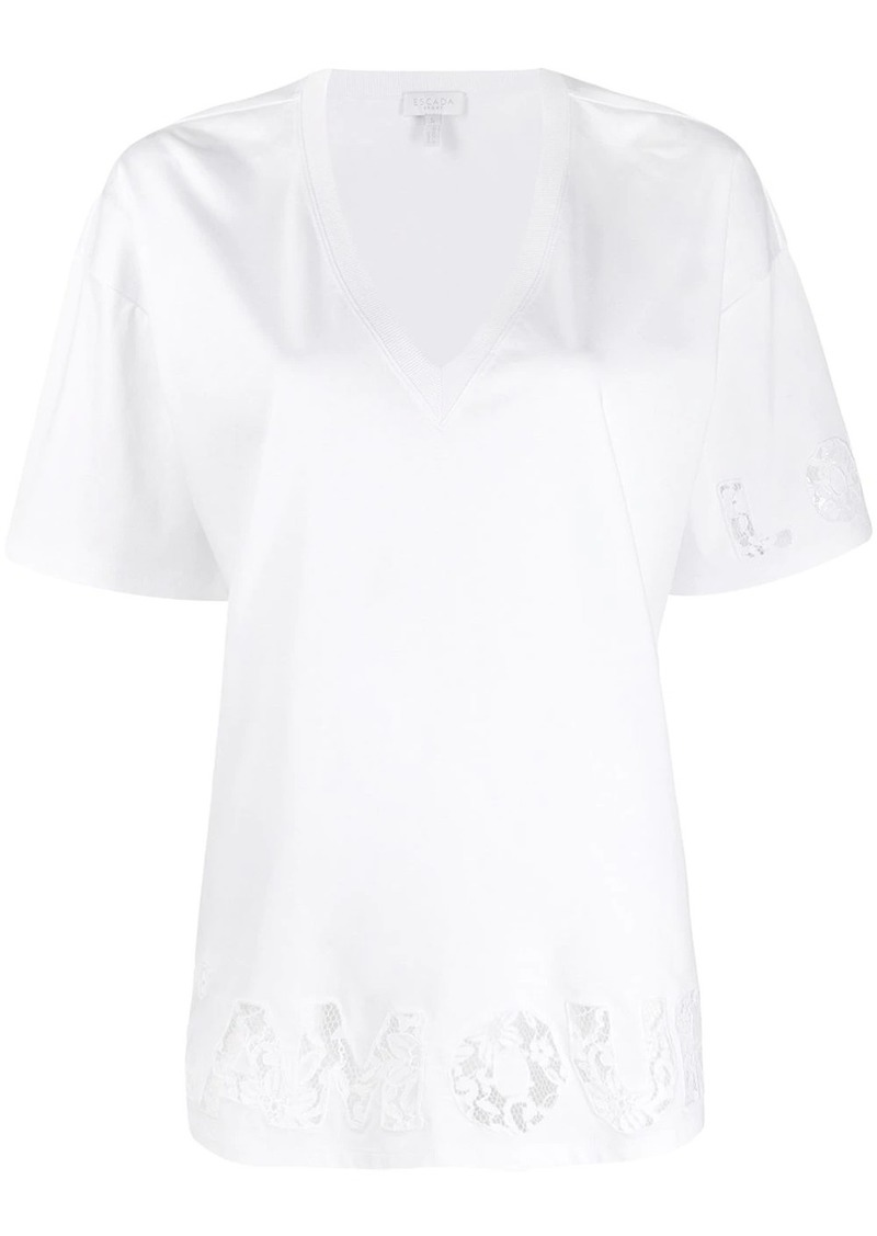 Escada V-neck T-shirt