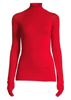 Escada Rita Ora Capsule Virgin Wool Turtleneck Sweater