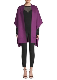 Escada Wool & Cashmere Open-Front Poncho