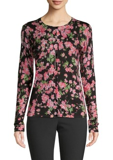 Escada Wool & Silk Floral Cardigan