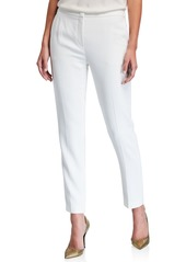 Escada Wool Crepe Slim-Leg Pants