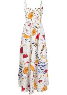 Esteban Cortazar abstract long corset dress