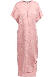Esteban Cortazar Woman Asymmetric Crinkled-sateen Midi Dress Blush