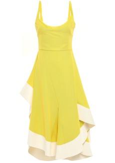 Esteban Cortazar Woman Asymmetric Open-back Ponte Dress Bright Yellow