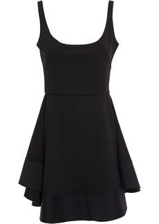 Esteban Cortazar Woman Flared Twill-paneled Cady Mini Dress Black