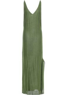 Esteban Cortazar Woman Jacquard-knit Midi Slip Dress Army Green