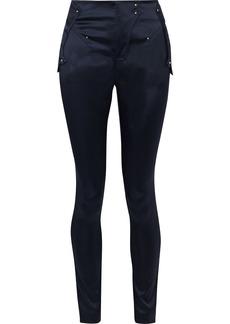 Esteban Cortazar Woman Satin Skinny Pants Navy