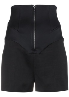 Esteban Cortazar Wool and silk high waisted shorts