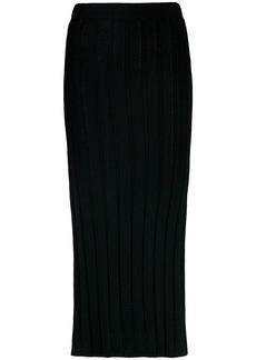 Esteban Cortazar knitted midi pencil skirt
