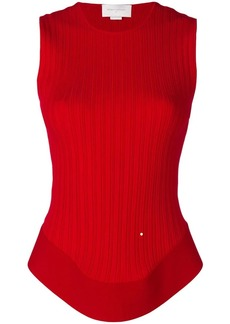 Esteban Cortazar open back corset knit top