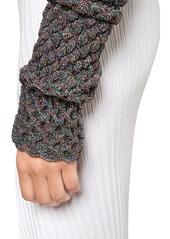 Esteban Cortazar Ribbed Knit Midi Dress W/ Lurex Cuffs