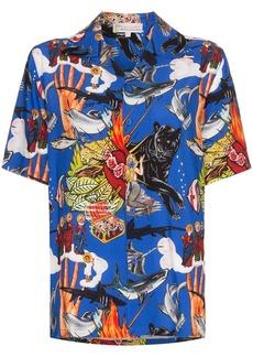 Esteban Cortazar sea-life print shirt