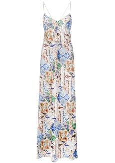 Esteban Cortazar tile print maxi dress
