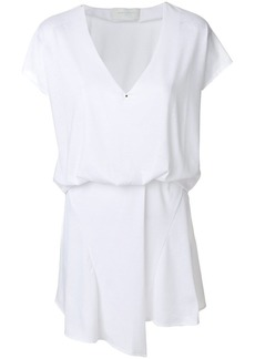 Esteban Cortazar v-neck fold dress