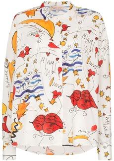 Esteban Cortazar watercolour-print cotton shirt