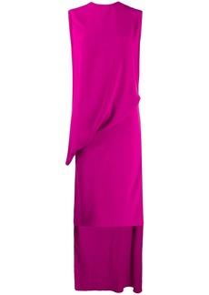 Esteban Cortazar wrap flamenco jersey dress