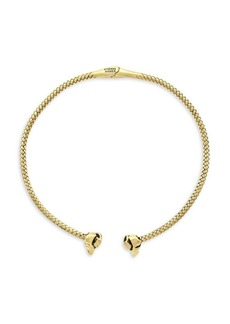 Etienne Aigner Goldtone Hinged Textured Collar Necklace