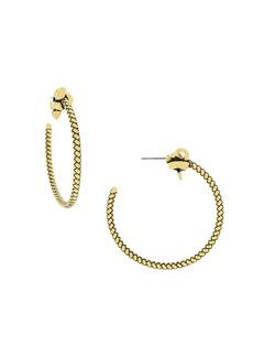 Etienne Aigner Goldtone Knot Hoop Earrings