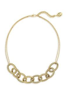 Etienne Aigner Goldtone Textured Link Collar Necklace