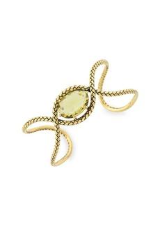Etienne Aigner Goldtone Woven Cuff Bracelet