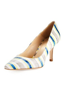 Etienne Aigner Lydia Striped Snake-Embossed Pump