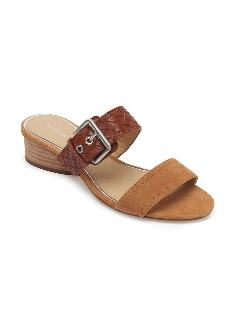 Etienne Aigner Preston Buckle Strap Slide Sandal (Women)