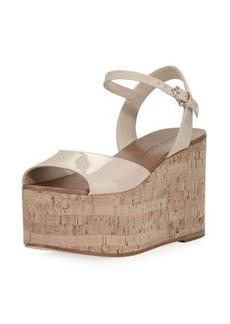 Etienne Aigner Sally Patent Platform Wedge Sandal