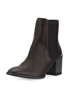 Etienne Aigner Tate Leather Stretch Bootie