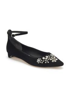 Etienne Aigner Jezebel Ankle Strap Embellished Pump (Women)