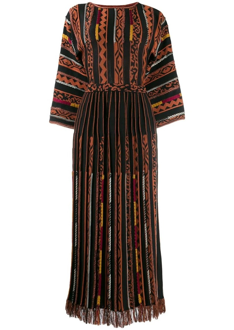 Etro panelled long dress