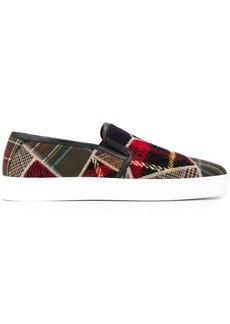Etro slip-on patchwork sneakers
