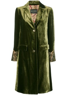 Etro embroidered cuff coat