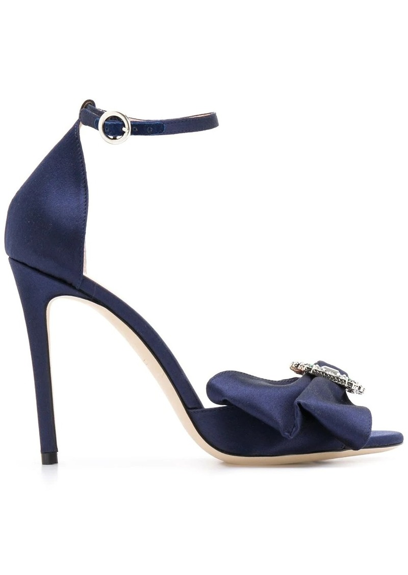 Etro 105mm brooch bow sandals