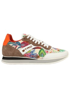 Etro 20mm Paisley Satin Running Sneakers