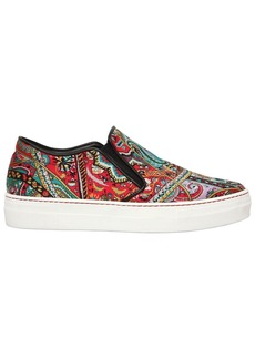 Etro 20mm Paisley Satin Slip-on Sneakers