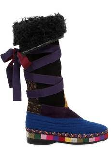 Etro 20mm Suede & Wool Boots