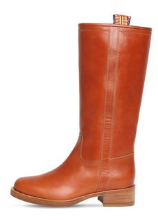 Etro 30mm Leather Tall Boots