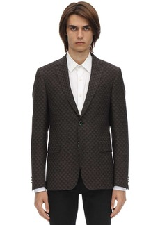 Etro 3d Motif Wool & Cotton  Jacquard Jacket