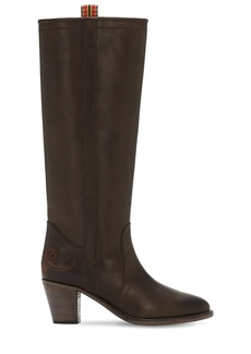 Etro 65mm Leather Tall Boots
