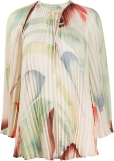 Etro abstract blurred print blouse