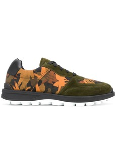 Etro abstract-print panelled sneakers