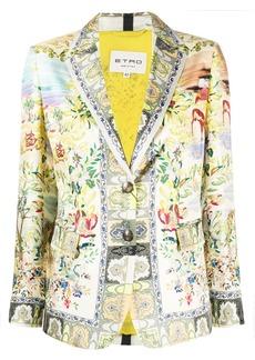 Etro all-over print blazer