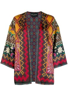 Etro all-over print cape